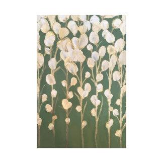 Blanco y bella arte de las flores del oro
