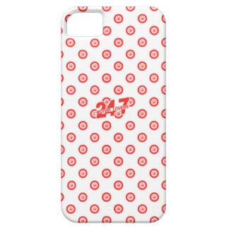 Blanco y caja roja funda para iPhone SE/5/5s