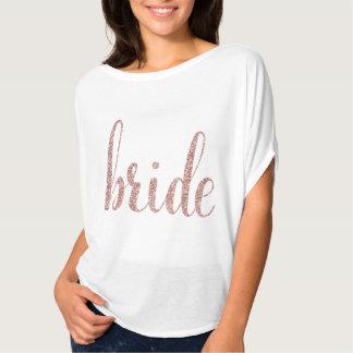 Blanco y camisa color de rosa de la novia del