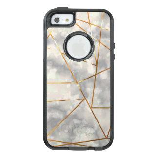 Blanco y de mármol con falsas formas de la hoja de funda otterbox para iPhone 5/5s/SE