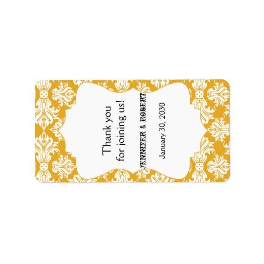 Blanco y etiqueta del protector labial del boda etiqueta de dirección