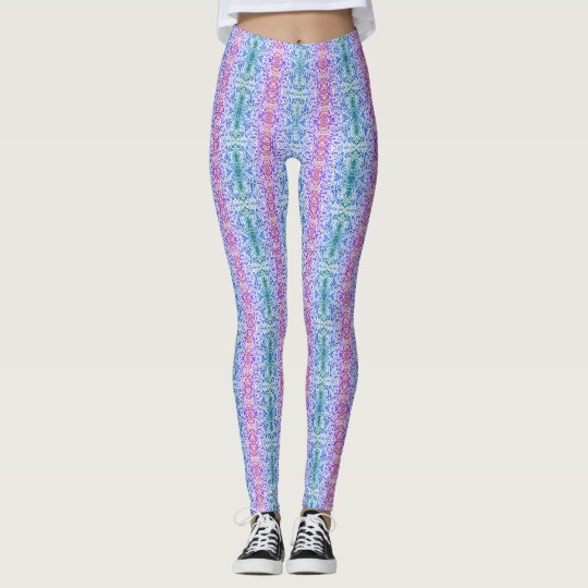 Blanco y fresco frescos modelados leggings