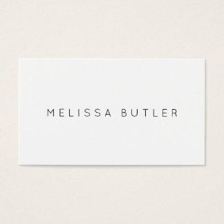 Blanco y negro elegante minimalista tarjeta de visita