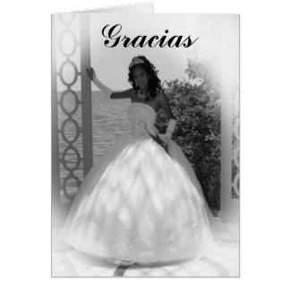 blanco y negro formal, Gracias Tarjeta Pequeña