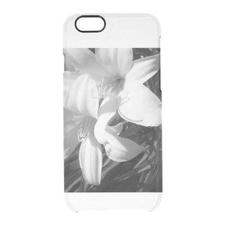 Blanco y negro funda transparente para iPhone 6/6S