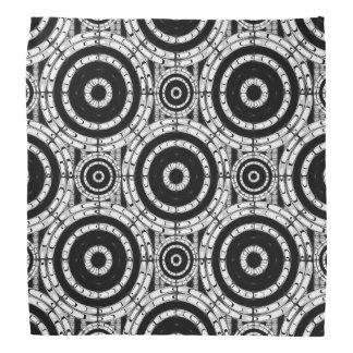 Blanco y negro geométrico bandana