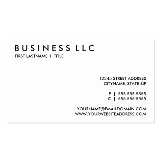 blanco y negro llano tarjetas de visita