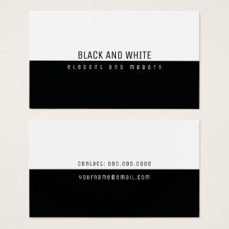 blanco y negro moderno elegante minimalista tarjeta de negocios