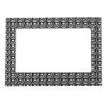 Blanco y negro moderno metropolitano del art déco  marcos magnéticos de fotos