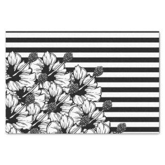 Blanco y negro papel de seda