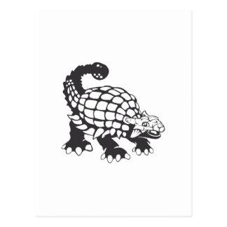 Blanco y negro prehistórico del dinosaurio del postal