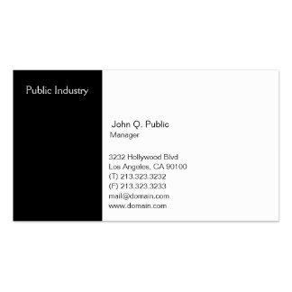 Blanco y negro profesional moderno simple tarjetas de visita