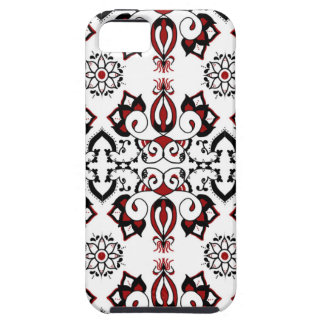 Blanco y negro rojos funda para iPhone SE/5/5s