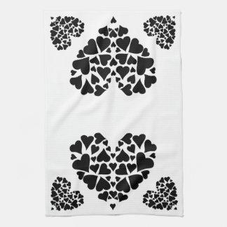 Blanco y negro toalla