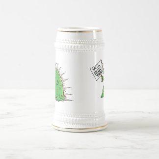 Blanco y oro de Greep Stein Jarra De Cerveza