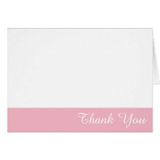 Blanco y pálido - el borde rosado le agradece tarjeta