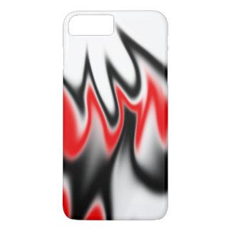 Blanco y rojo negros funda iPhone 7 plus