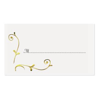Blanco y tarjetas del lugar de la recepción nupcia tarjetas de visita
