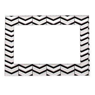 Blancos negros y se ruborizan marco magnético de marcos magnéticos para fotos