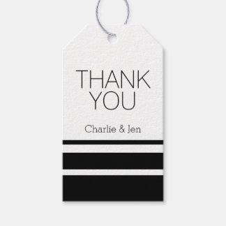 Blancos y negros de encargo le agradecen etiquetas para regalos