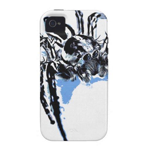 Ble de Blaue Spinne Blaue Spinne Araignée del azul iPhone 4/4S Funda