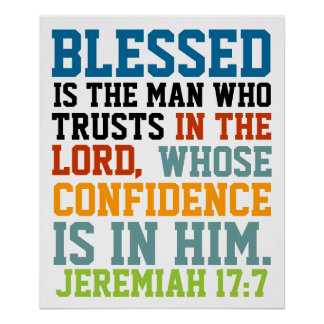 Blessed es el 17:7 de Jeremiah del verso de la bib Póster