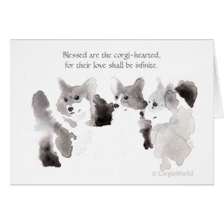 """""""Blessed es"""" la tarjeta Corgi-Hearted de la"""