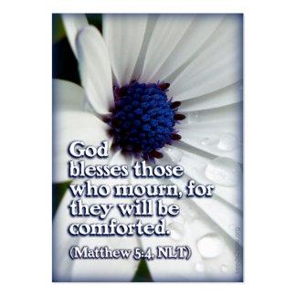 Blessed es las que están de luto distribuyen la tarjetas de visita grandes