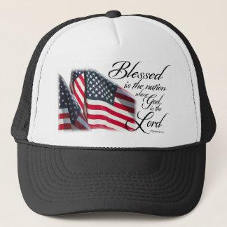 Blessed patriótica es la nación gorra de camionero