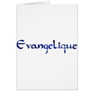 Bleu de Evangélique Tarjeta De Felicitación