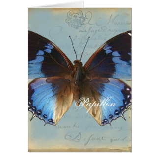 Bleu de Papillon Tarjeta De Felicitación