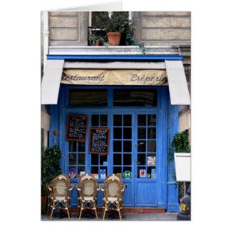 bleu del crêperie - postal de Paris6