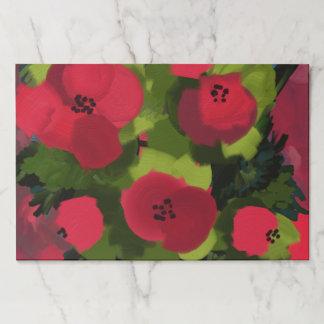 Bloc De Hojas Arte floral realista pintado de la pintura el   de