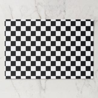 Bloc De Hojas Blanco a cuadros clásico del negro del control del