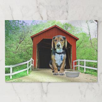 Bloc De Hojas Casa de perro cómica del puente cubierto de la