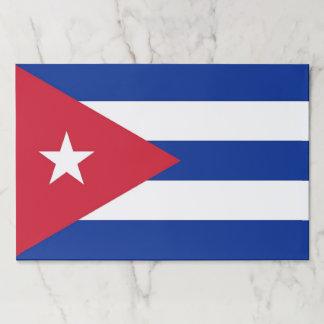 Bloc De Hojas Cojín de papel del Tearaway con la bandera de Cuba