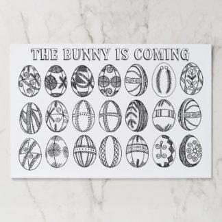 Bloc De Hojas Huevos de Pascua dibujados mano de la diversión