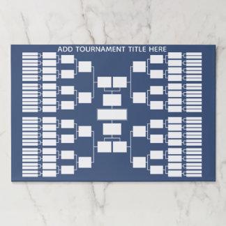 Bloc De Hojas Soporte del torneo de los deportes para 64 equipos