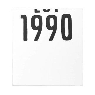 BLOC DE NOTAS 1990
