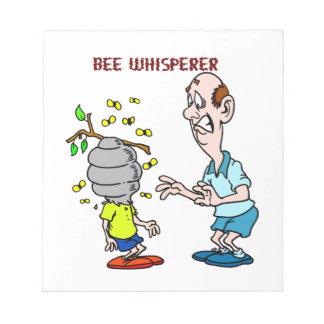 Bloc De Notas Abejorro del Whisperer de la abeja de los amantes