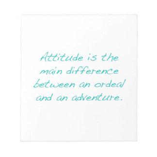 Bloc De Notas Actitud -- prueba dura o aventura (verde)