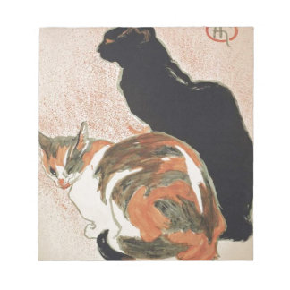 Bloc De Notas Acuarela - 2 gatos - Théophile Alejandro Steinlen