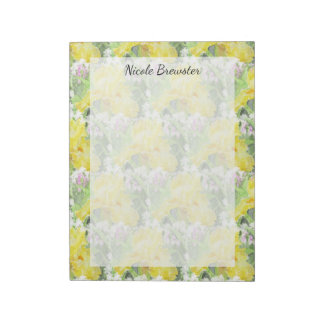 Bloc De Notas Acuarela alta amarilla del iris barbudo