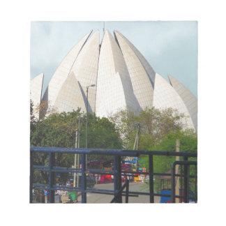 Bloc De Notas Adoración de la casa de Nueva Deli la India Bahá'í