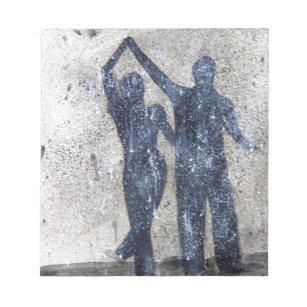 Bloc De Notas Amantes que bailan en lluvia