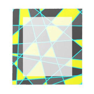 Bloc De Notas amarillo de neón brillante geométrico elegante y