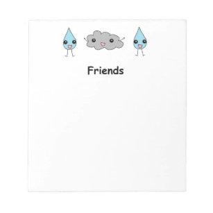 Bloc De Notas Amigos lindos de la nube y de la gota de agua