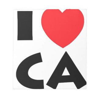 Bloc De Notas Amo California