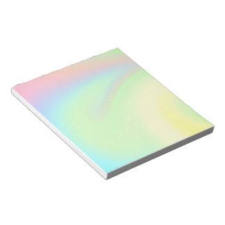 Bloc De Notas Arco iris en colores pastel del color