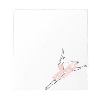 Bloc De Notas Bailarina rosada bonita